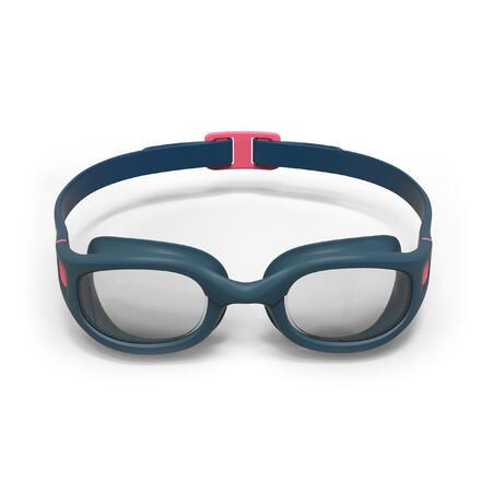 Maudymosi akiniai skaidriais stiklais, L dydžio, mėlynos ir rožinės spalvos