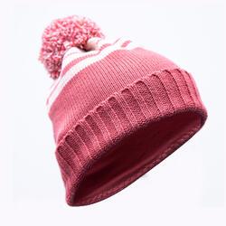 兒童滑雪帽GRAND NORD粉色條紋