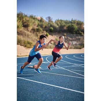 男童透氣跑步和田徑背心AT 500 - 藍色