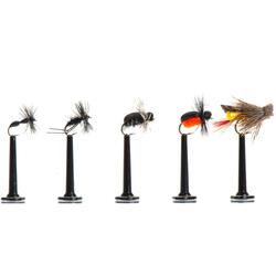 Set droge vliegen voor vliegvissen landinsecten
