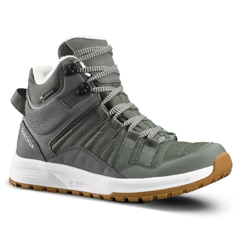 Women's Warm and Waterproof Hiking Boots - SH100 X-WARM - Mid