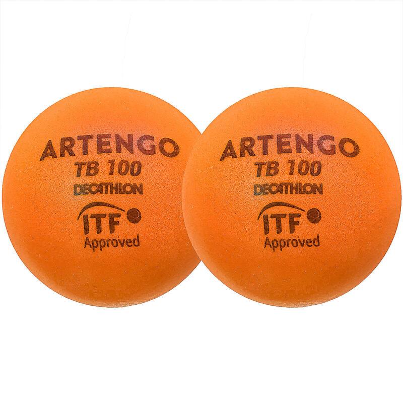 9cm Foam Tennis Ball TB100 Twin-Pack - Orange