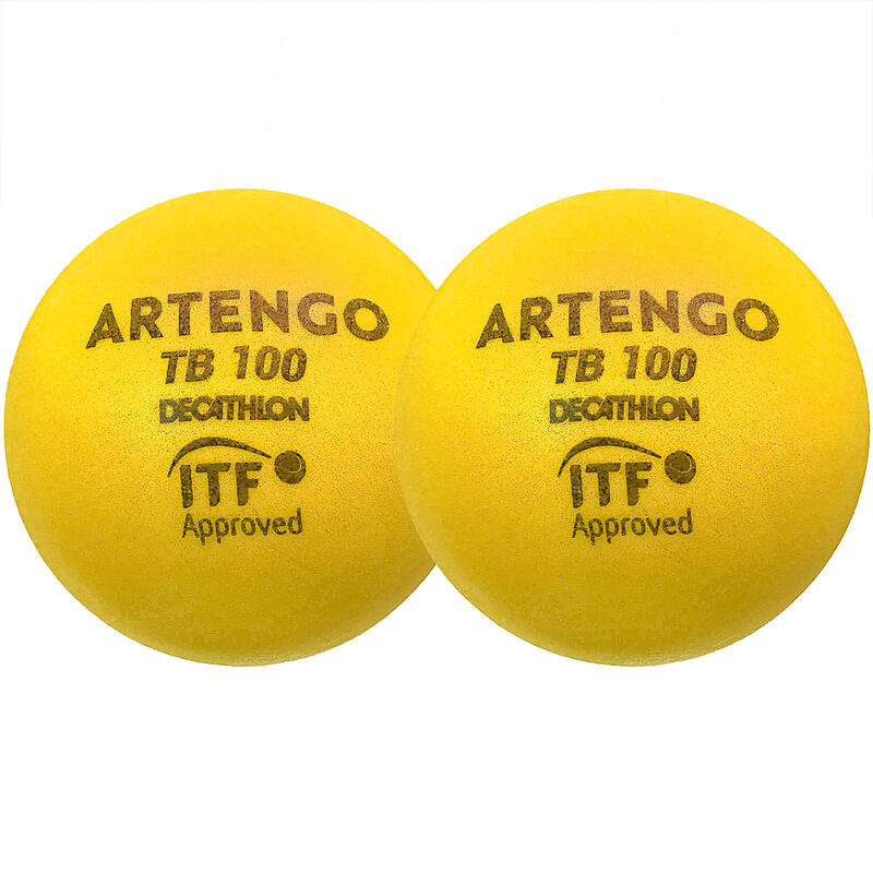 Foam Tennis Ball Twin-Pack TB100 - Yellow