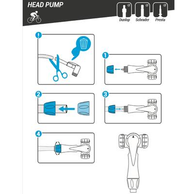 Twin Head for Floor Pumps