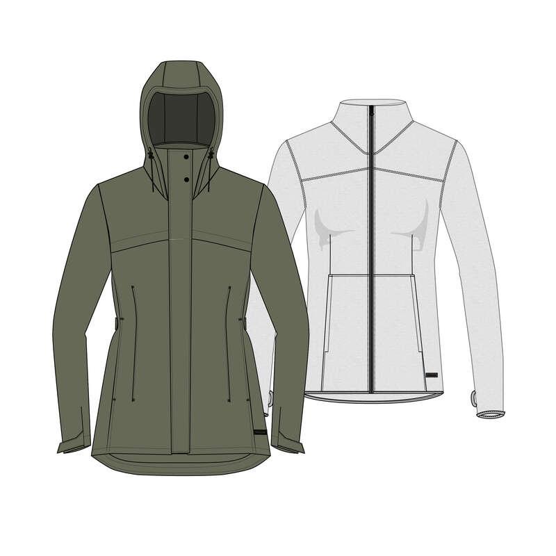 Női 3in1 kabát - Női kabát Travel100 3 az 1-ben FORCLAZ