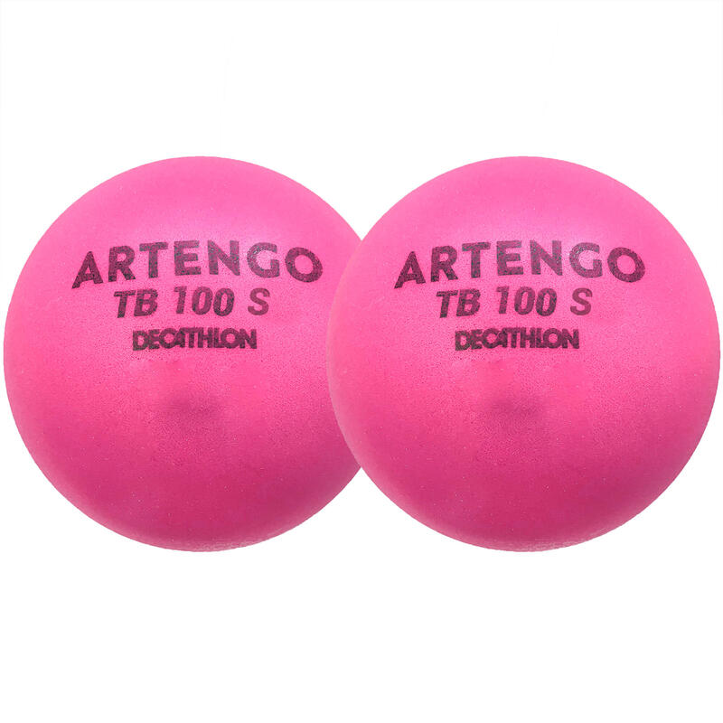 Foam tennisbal TB100 7 cm roze 2 stuks