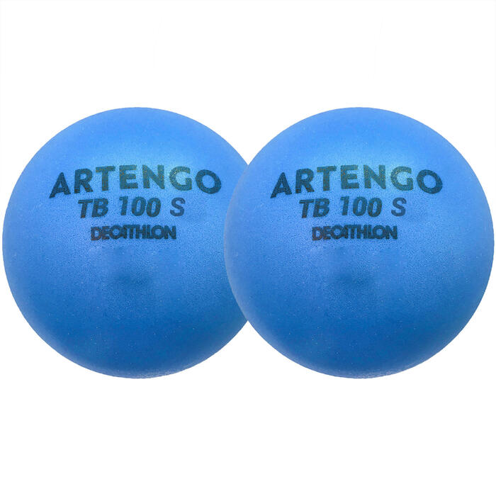 Foam Tennis Ball Twin-Pack TB100 - Blue