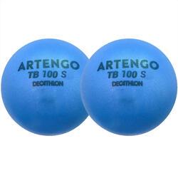 泡棉網球TB100 2入裝-藍色