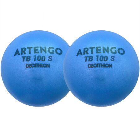 7cm Foam Tennis Ball TB100 Twin-Pack - Blue
