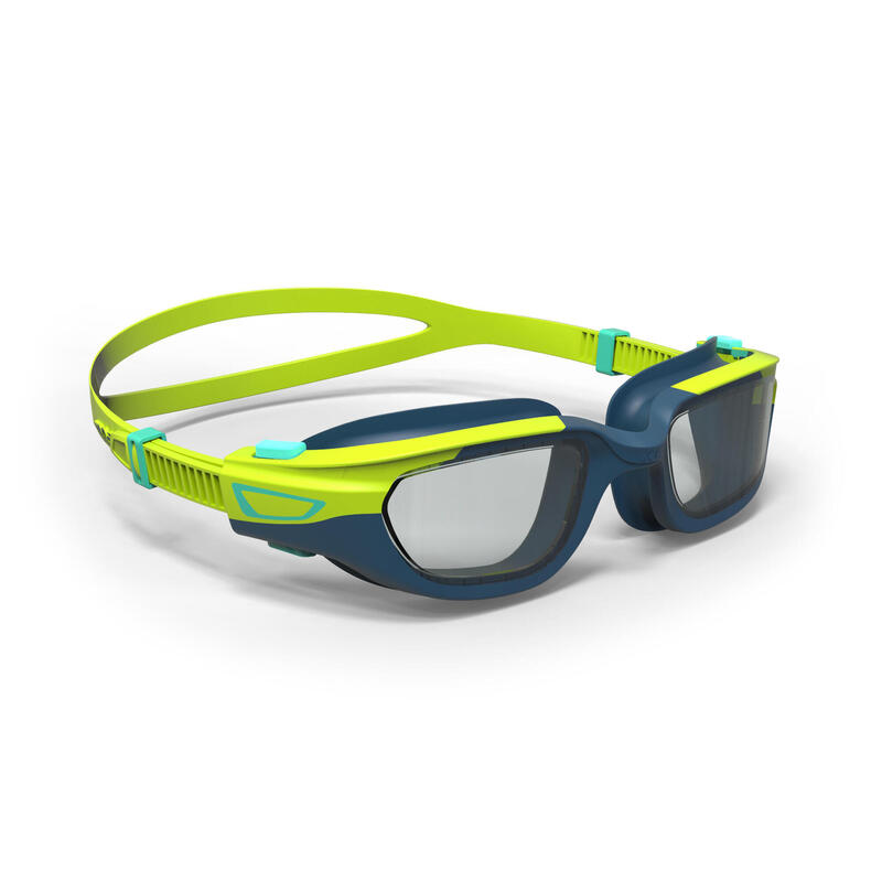 KIDS' SWIMMING GOGGLES SPIRIT CLEAR LENSES - YELLOW / BLUE