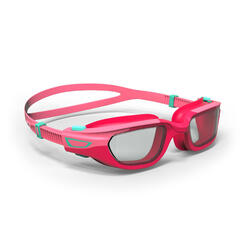 KIDS' SWIMMING GOGGLES SPIRIT CLEAR LENSES - PINK / GREEN