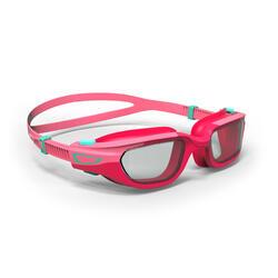 兒童款泳鏡(鏡面鏡片)SPIRIT - 粉紅色配綠色