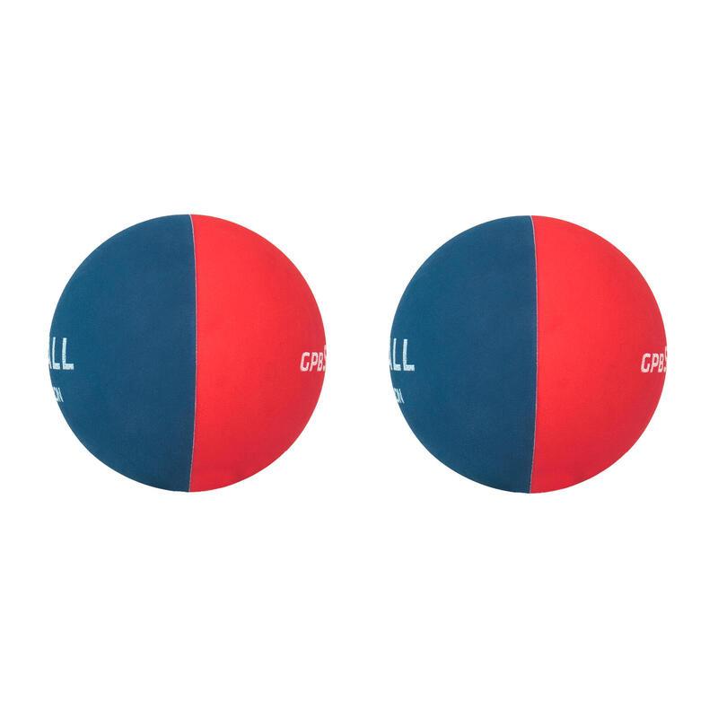 Balles initiation Pelote GPB soft bicolore Rouge Bleu Marine (x2)