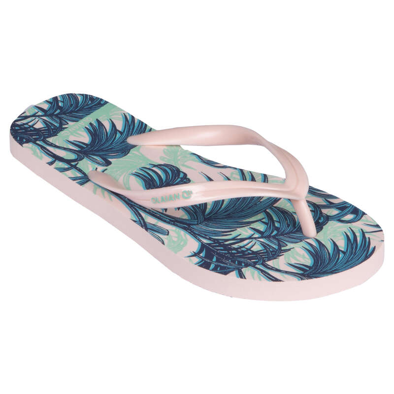 Gyerek papucs Strand, szörf, sárkány - Lány strandpapucs 120 Exotic OLAIAN - Bikini, boardshort, papucs