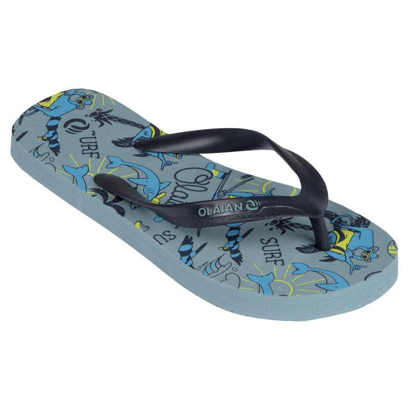 Gyerek papucs Strand, szörf, sárkány - Fiú strandpapucs 120 B Happy OLAIAN - Bikini, boardshort, papucs