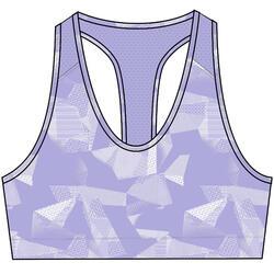 女款有氧健身訓練運動內衣100 - 淡紫色