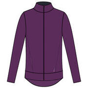 Women Straight-Cut Full Zip Gym Jacket - Purple