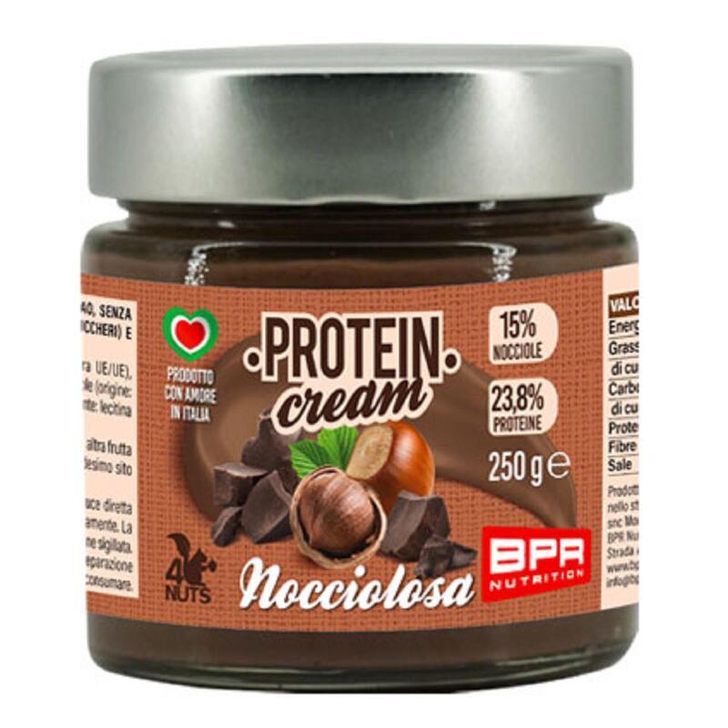 Crema spalmabile proteica gusto nocciolosa senza glutine 250 grammi
