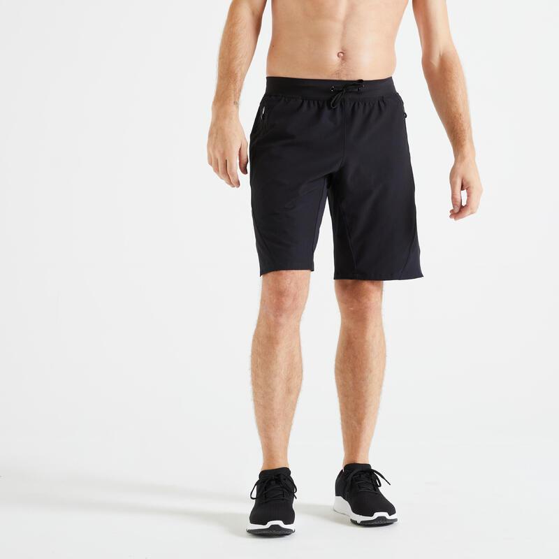Trainingshort voor fitness zwart