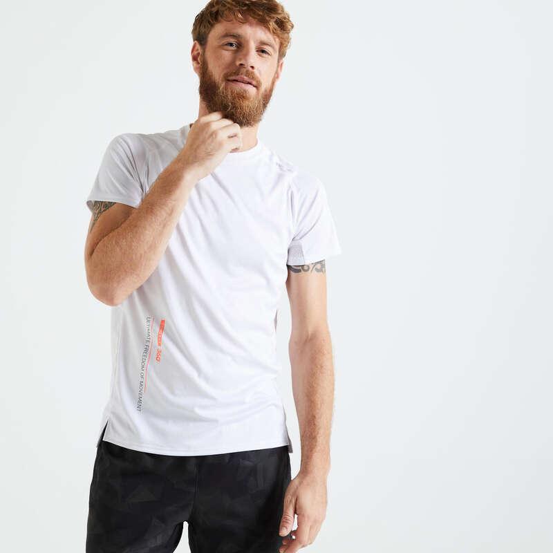 Fitnesz Cardio Férfi ruházat kezdő Fitnesz - Férfi fitneszpóló 120-as DOMYOS - Fitnesz ruházat és cipő