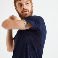 T shirt technique fitness bleu marine