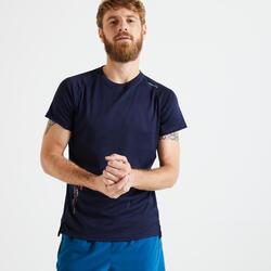 Technisch T-shirt voor fitness marineblauw