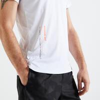 T shirt technique fitness blanc