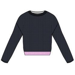 Cropped Long-Sleeved Fitness Sweatshirt
