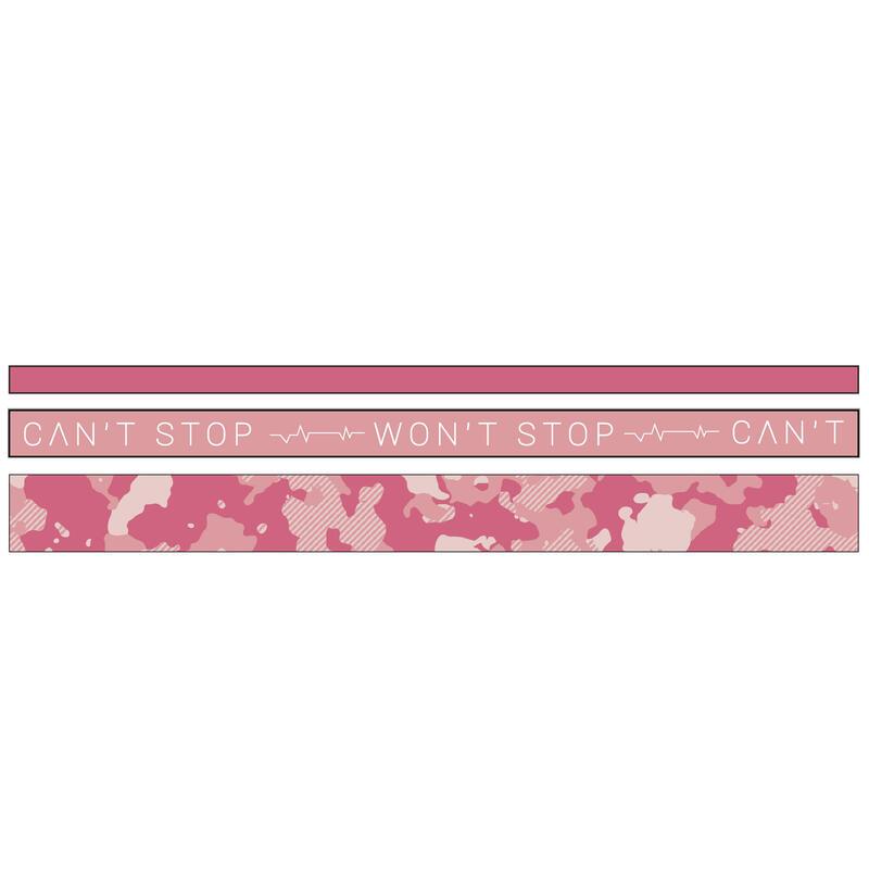 Cardio Fitness Hair Tie Tri-Pack - Pink Print