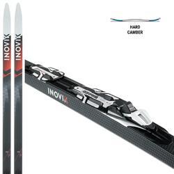 Langlaufski Skating 550 Hard-Camber mit Rottefella-Bindung Xcelerator Erwachsene