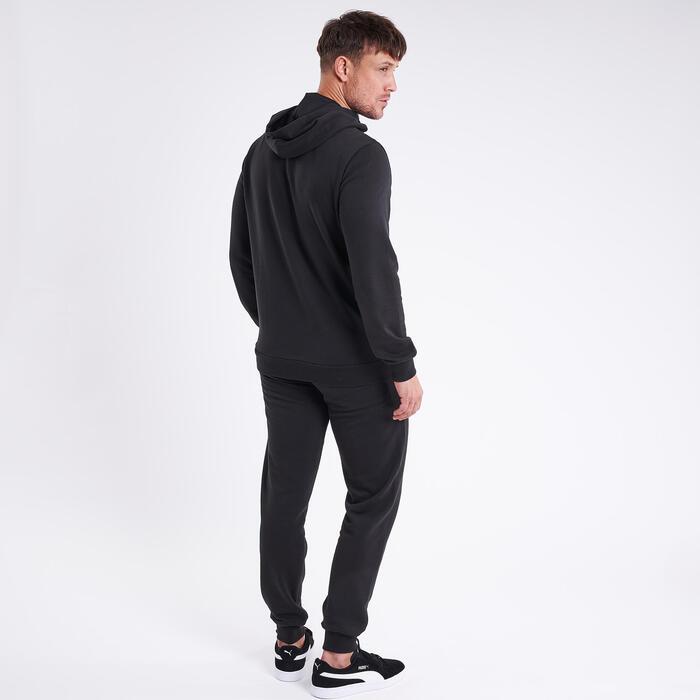 Sweat à capuche Puma Fitness Noir avec logo blanc