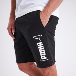 Shorts Fitness Baumwolle Herren schwarz