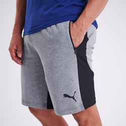 Shorts Fitness Baumwolle Herren grau