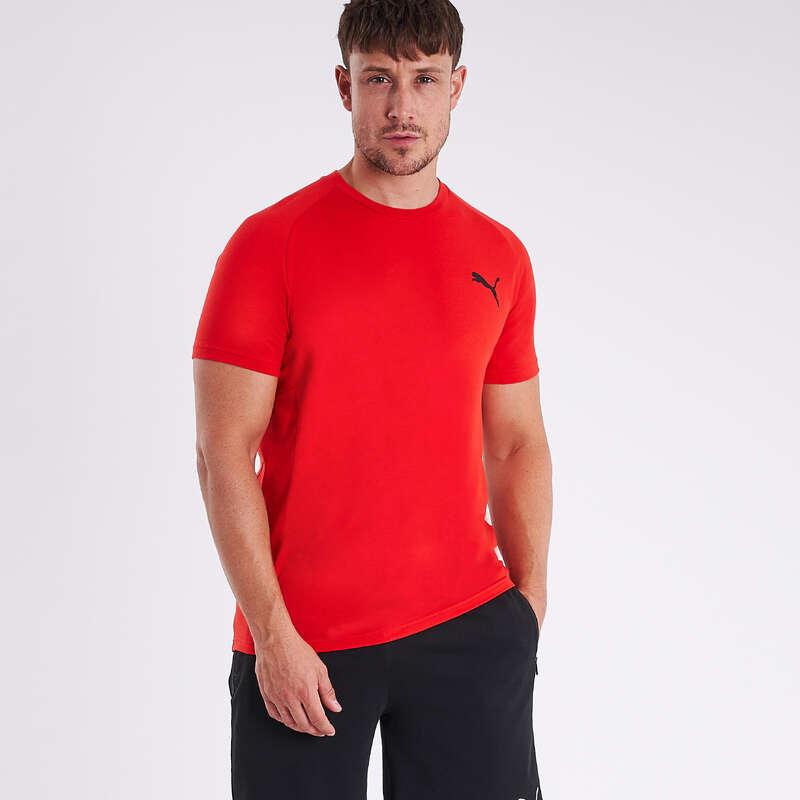 KLÄDER FÖR GYMNASTIK, PILATES, HERR Pilates - T-shirt PUMA active röd PUMA - Pilates