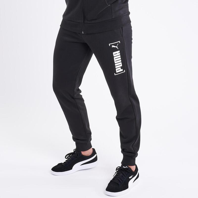 Pantalon de survêtement Puma Fitness coton bio Noir