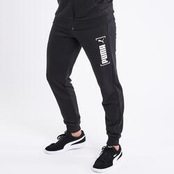 Trainingshose Fitness Bio-Baumwolle schwarz