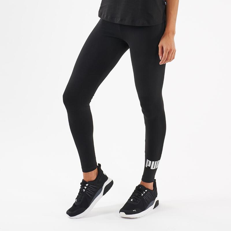 Legging Puma Fitness coton noir avec logo argenté