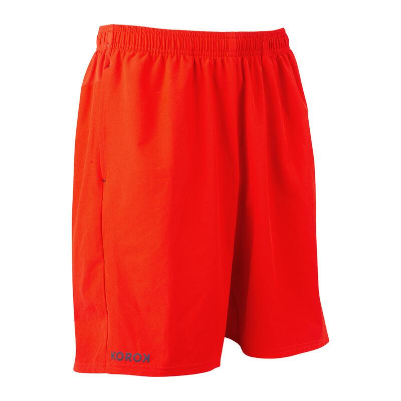 Pantalón Corto Hockey Hierba hombre FH500 rojo