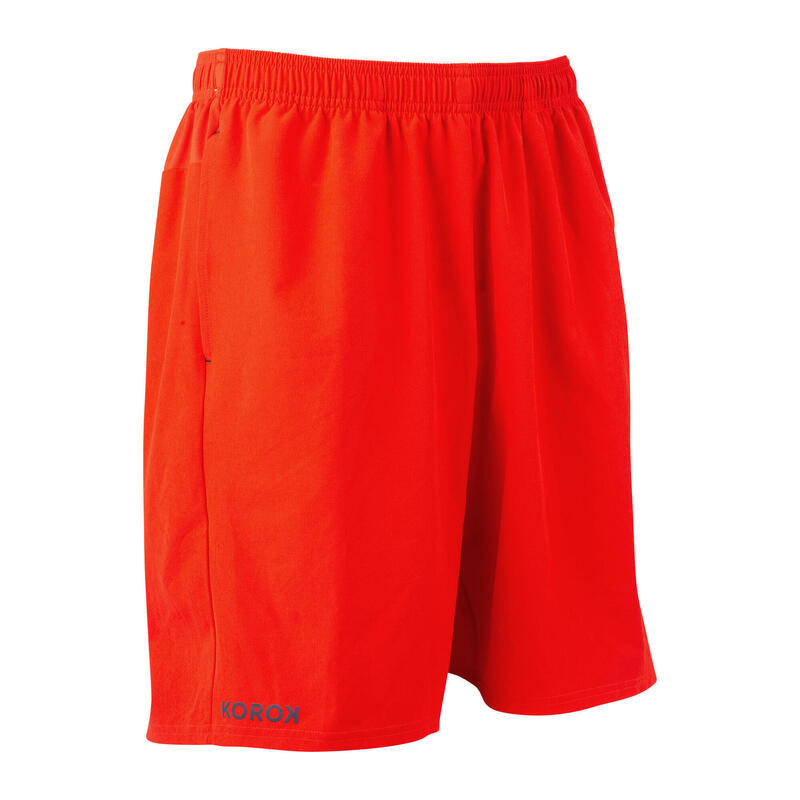 Short de hockey sur gazon homme FH500 rouge