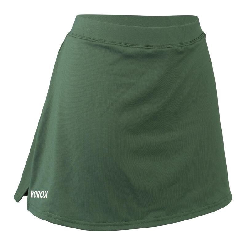 Hockeyrokje voor dames FH500 groen