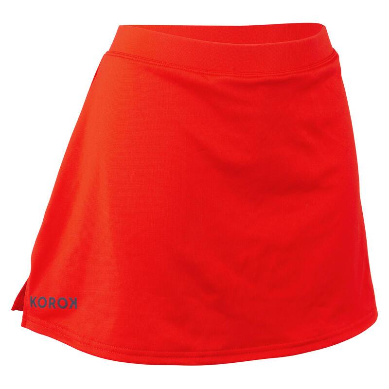 Hockeyrokje voor dames FH500 rood