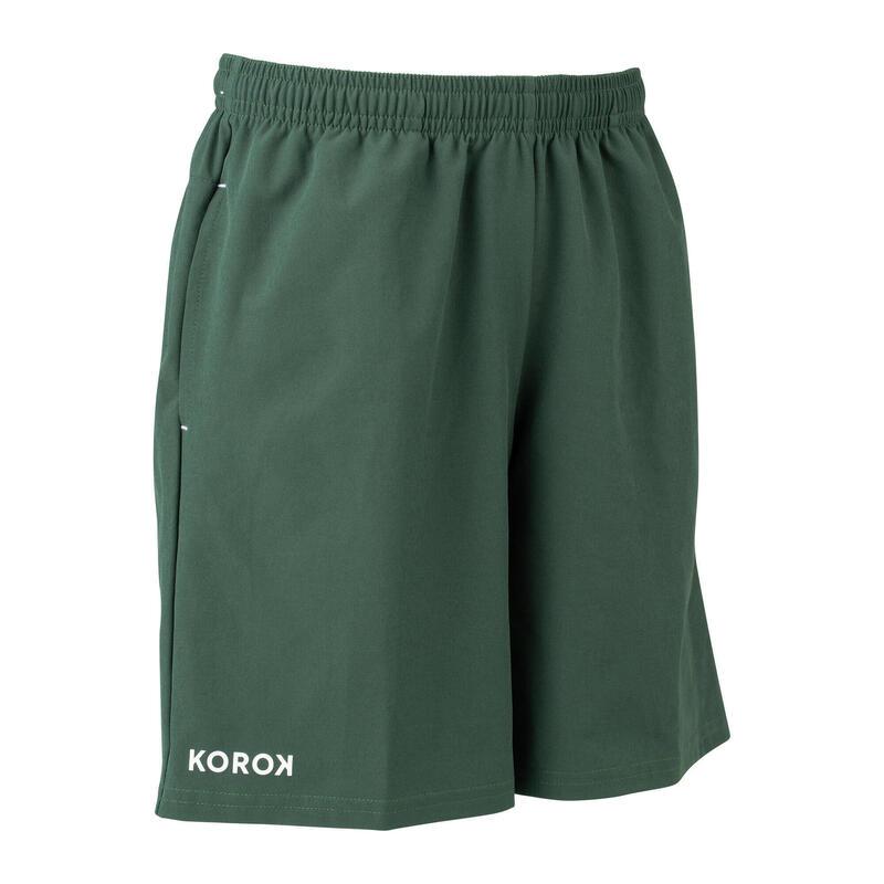 Boys' Field Hockey Shorts FH500 - Green