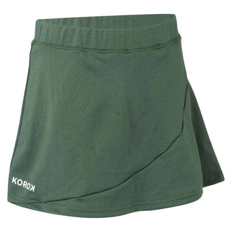 Girls' Field Hockey Skirt FH500 - Green