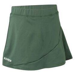 Hockeyrokje voor meisjes FH500 groen
