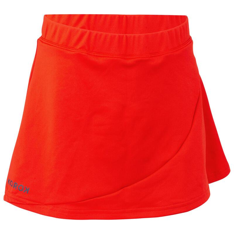 Girls' Field Hockey Skirt FH500 - Red
