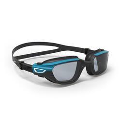 L號煙灰色鏡片偏光泳鏡 - 黑藍配色