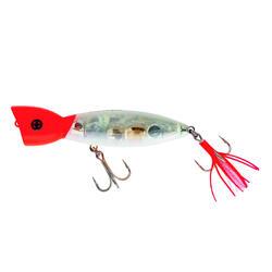Popper voor zeevissen PULSION GHOST CRYSTAL RED HEAD TR 135 F