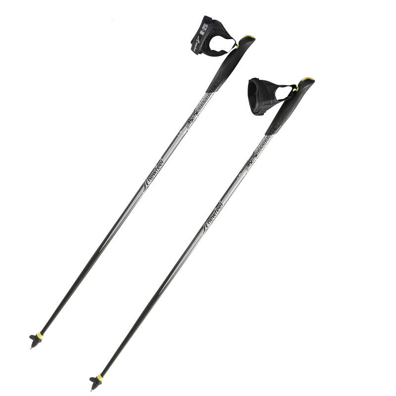 POLES / ACCESSORIES NORDIC WALKING Nordic walking - HOLE NW P100 ČERNO-ŠEDÉ NEWFEEL - Hole a doplňky na nordic walking