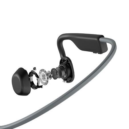"""Kaulais garsą skleidžiančios ausinės su """"Bluetooth"""" ryšiu """"Open Move"""", pilkos"""