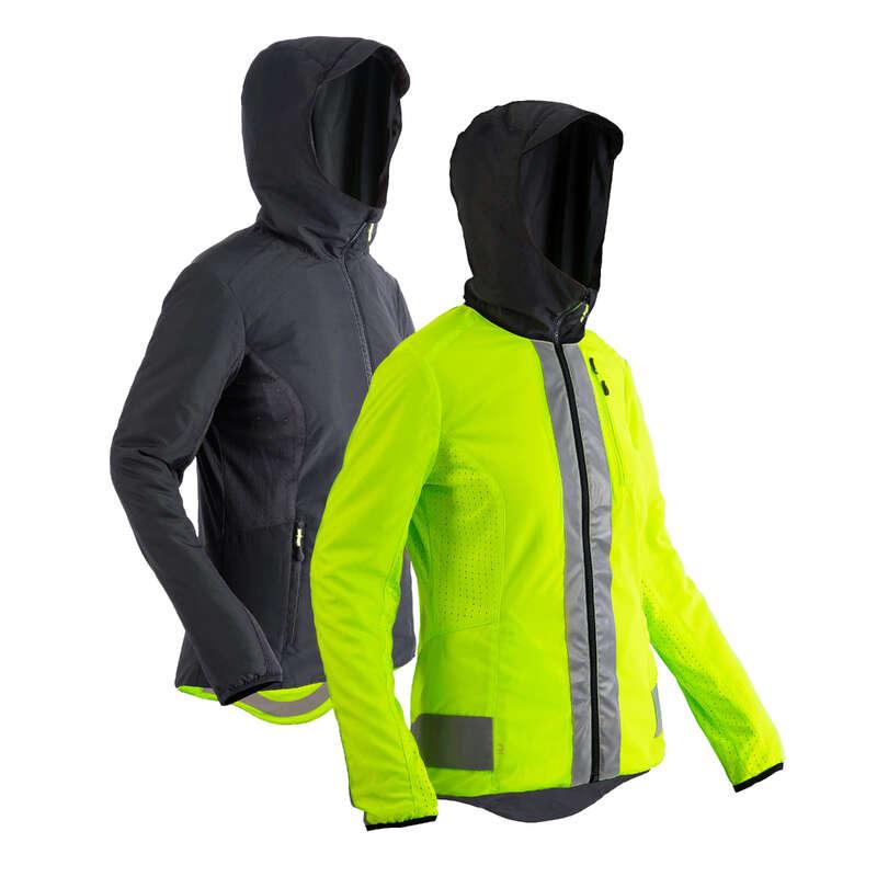 COOL WEATHER CITY CYCLING APPAREL & ACC Cykelsport - Jacka 500 svart/gul BTWIN - Cykeljackor och Västar